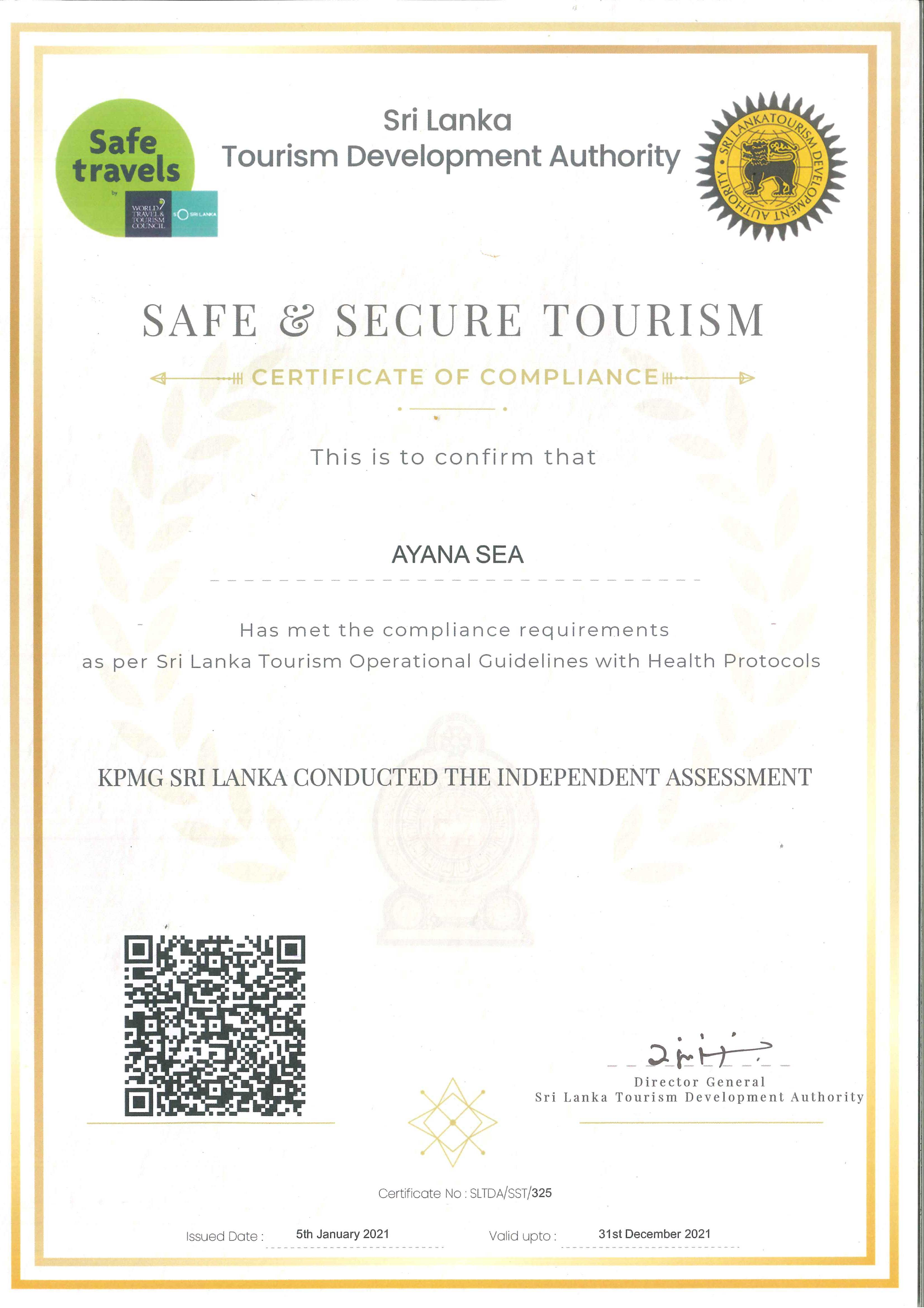 Safe & Secure Tourism with Ayana